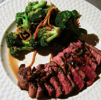 Balsamic-Glazed-Steak-Orange-Broccoli