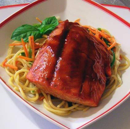 Teriyaki-Salmon-on-Thai-Noodle-Salad