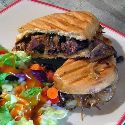 Hanger-Steak-Panini