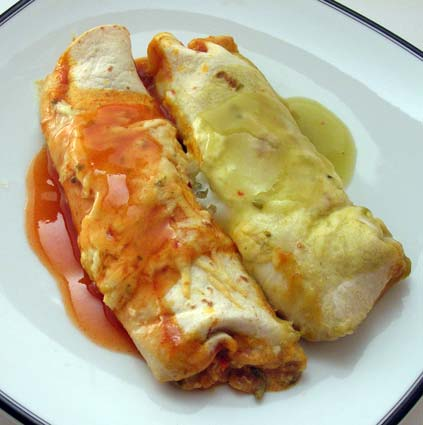Red and Green Shrimp Enchiladas (adapted from Taste of the South ...