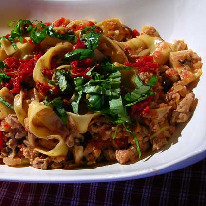 Pasta-with-Sausage-and-Vodka-Sauce