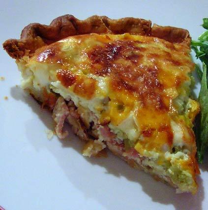 Bacon-a-Green-Chile-Quiche