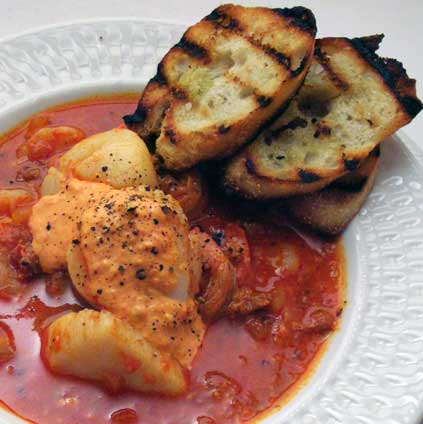 Shellfish-Stew-with-Chorizo-a-Rouille