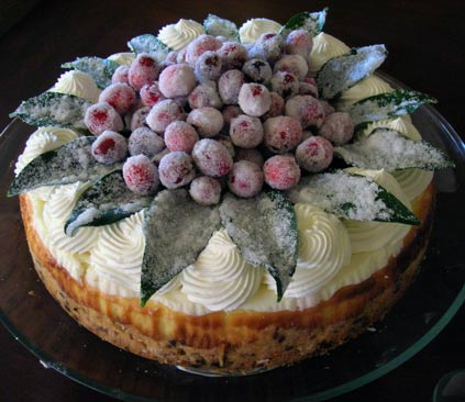 Cranberry-Cheesecake