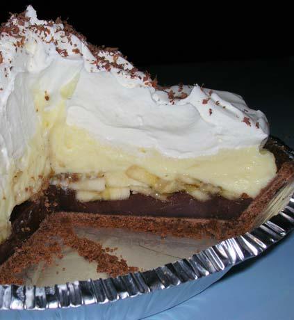 JBug's Kitchen Antics: Black Bottom Banana Cream Pie