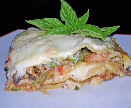 Chicken-'Shroom-Lasagne