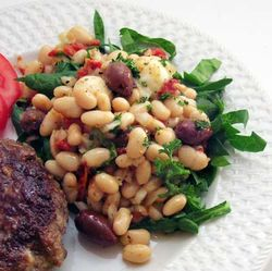 Tuscan-White-Bean-Salad-w-Spinach