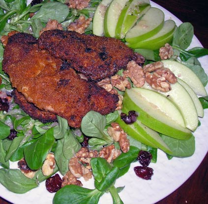 Mache-Salad-with-Apple,-Dried-Cherries-a-Walnuts