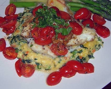 Seared-Halibut-with-Roasted-Pearl-Tomatoes-2
