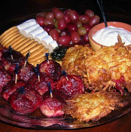 Cranberry-Turkey-Meatballs-a-Sweet-Potato-Latkes