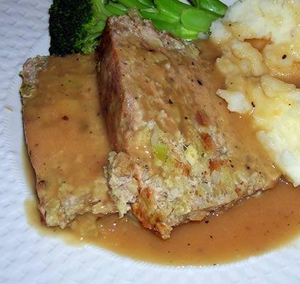 Chicken-w-Stuffing-Meatloaf-Cider-Gravy-2