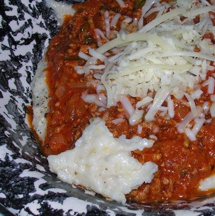 Italian-Meat-Sauce-on-Polenta