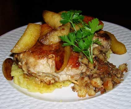 Roquefort-Stuffed-Pork-Chops