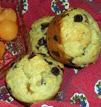 Choco-Chip-Sour-Cherry-Muffins