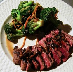Balsamic-Glazed-Steak-Orange-Broccoli