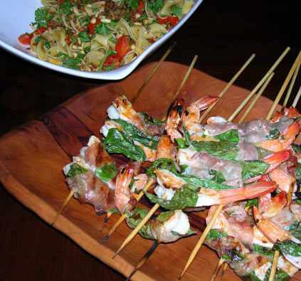 Shrimp-with-Basil-and-Prosciutto-1