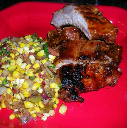 Sweet-Chili-Ribs-w-Corn-Saute