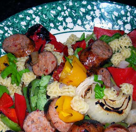 Pasta-Salad-w-Grilled-Sausage-and-Peppers