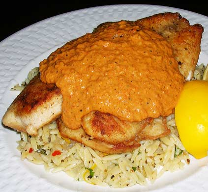 Tilapia-with-Romesco-Sauce-1