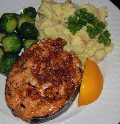 Cedar-Planked-Maple-Glazed-Salmon-w-Dijon-Mashed-Potatoes