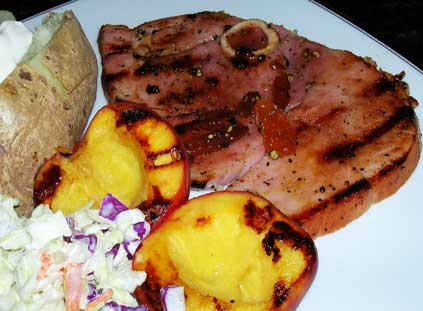 Grilled-Ham-Steak-with-Peaches-2