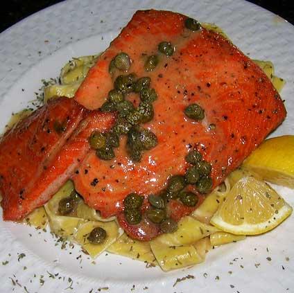 Salmon-Piccata-Style