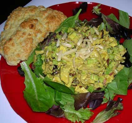 Curried-Turkey-Salad-w-Sour-Cream-Scones