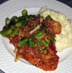 Chicken-Scallopini-with-Ham-a-Asparagus