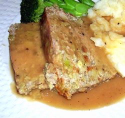 Chicken-w-Stuffing-Meatloaf-Cider-Gravy-2