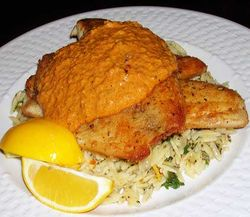 Tilapia-with-Romesco-Sauce