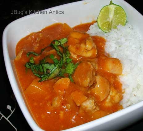 JBug's Kitchen Antics: Thai Chicken Curry with Butternut ...
