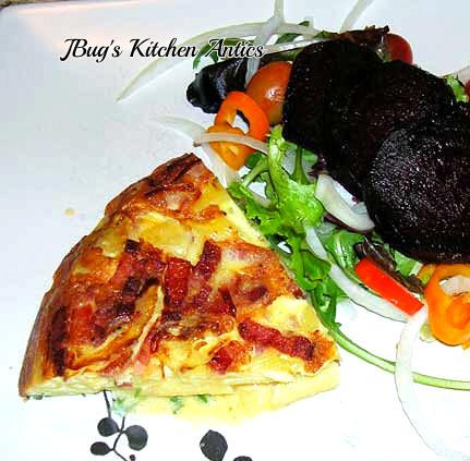 Pasta-Carbonara-Frittata-plated