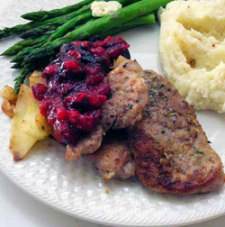 Pork-Medallions-w-Apple-a-Cran-Chutney