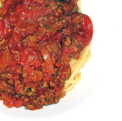 Curried Beef and Tomato Sauce w Pasta