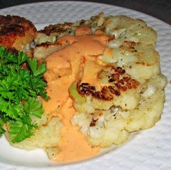 Cauliflower-Steaks-with-Spicy-Red-Pepper-Aioli