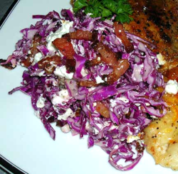 Red-Cabbage-Salad-with-Bacon-and-Goat-Cheese