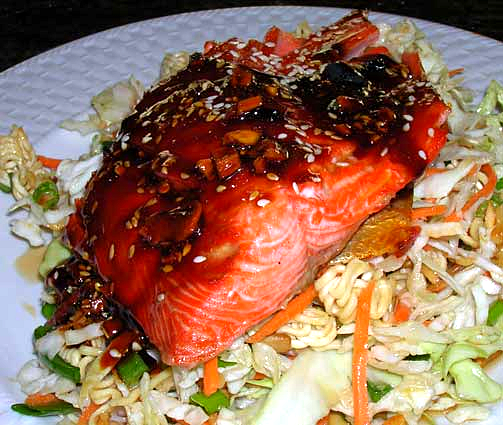 Ramen-Slaw-w-Asian-Glazed-Salmon