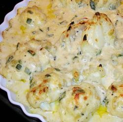 Cauliflower-Onion-Green-Chile-Gratin