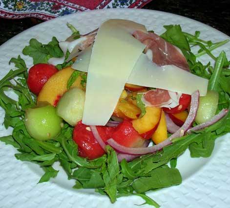 Melon-Salad-with-Prosciutto