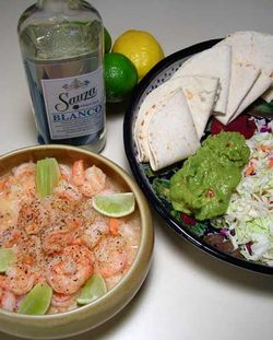 Tequila Shrimp in Tacos