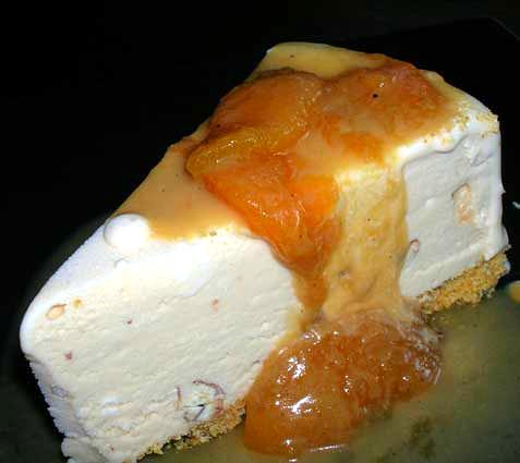 Frozen-Butter-Pecan-Ice-Cream-w-Bourbon-Peach-Sauce