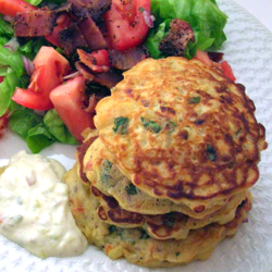 Corn Cakes with Clams