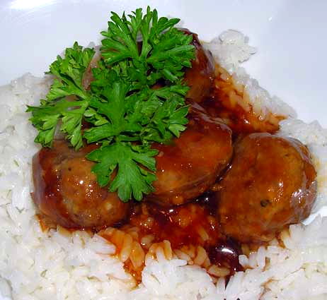 Spicy-Apple-Glazed-Meatballs