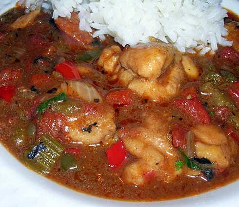 Chicken-Linguica-Gumbo