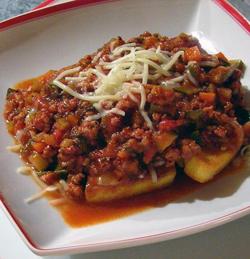 Veg-Sausage-Bolognese