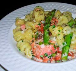 Pasta-w-Smoked-Salmon-a-Asparagus