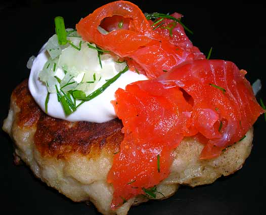 Gravlax-on-Boxty