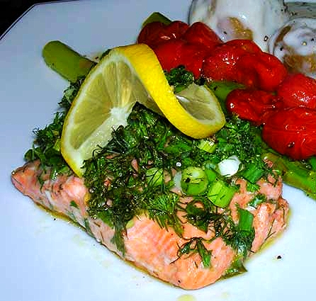 Roasted-Salmon-with-Herbs