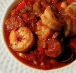 Shrimp with Andouille