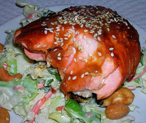 Asian-Broiled-Salmon-with-Creamy-Slaw